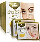 Under Eye Patches, 30 Pairs Eye Collagen Mask, 24K Gold Eye Treatment Masks Anti-Aging for Reducing Dark Circles & Puffiness Wrinkles, With Hydrogel, Deep Moisturizing Improves Elasticity.