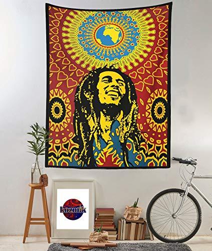 Bob Marley - Tapiz de pared para colgar en la pared, tamaño de la decoración del tapiz, 59 cm x 39,4 cm (150 cm x 110 cm)
