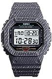 Mens Outdoor Sport Watch Men Digital Watch 5Bar Waterproof Alarm Clock Cowboy Military Watch (Gray)