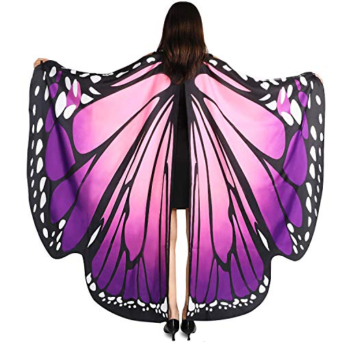 YXwin Adult Halloween Costumes Adult Butterfly Wings Pink Purple Girls Costume