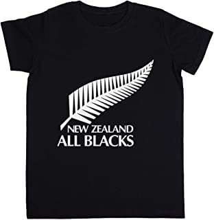 New Zealand All Blacks Unisexo Niño Niña Camiseta Negro Todos Los Tamaños - Unisex Kids Boys Girls's T-Shirt Black
