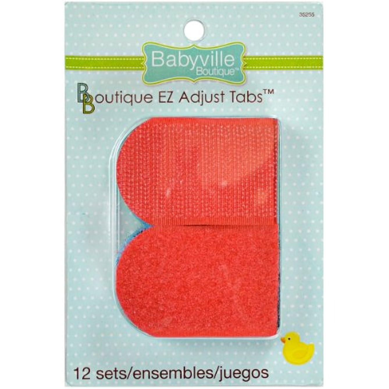 Babyville Boutique 35255 EZ Adjust Tabs, Primary Colors (12-Sets)