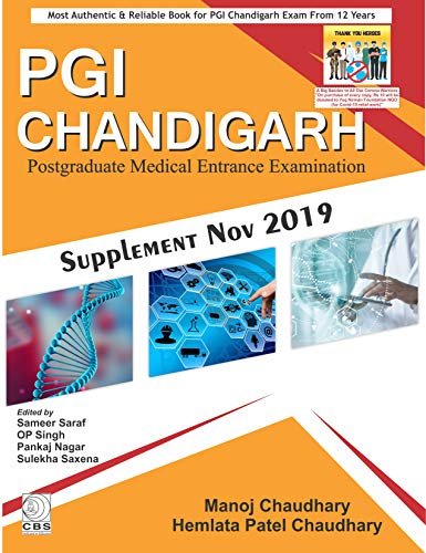 PGI Chandigarh Postgraduate Medical Entrance Examination Supplement Nov 2019 (PB 2019) - Original PDF