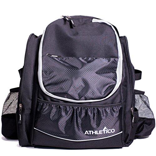 Athletico Power Shot Disc Golf Rucksack – 20+ Disc Kapazität – Pro oder Anfänger Disc Golf Tasche – Unisex Design (schwarz)