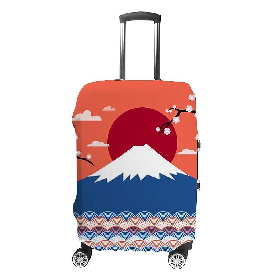 強要協同句読点ZHIMI スーツケースカバー 伸縮素材 おしゃれ 盗難防止 キャリーバッグカバー ラゲッジカバー 荷物保護 防塵 通気性抜群 ? ポリエステル 国内 海外旅行 便利 洗える 着脱簡単 1枚入り