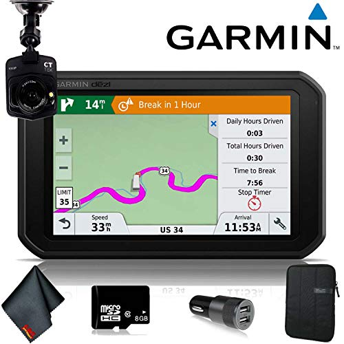 Garmin dezl 780 LMT-S Portable Navigator with 7' Screen for Truckers Includes Free Lifetime map and Traffic Updates Accessory Bundle
