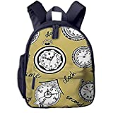 zainetti per bambini zaino bambino satchel scuola asilo zaino per bambini carino primario piccolo asilo nido ragazzi ragazze 2-7 anni orologi da tasca testo