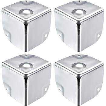 sourcing map Eckenschutz Kantenschutz Abdeckung Metall Box Silber Ton 40 x 40 x 40mm-8St