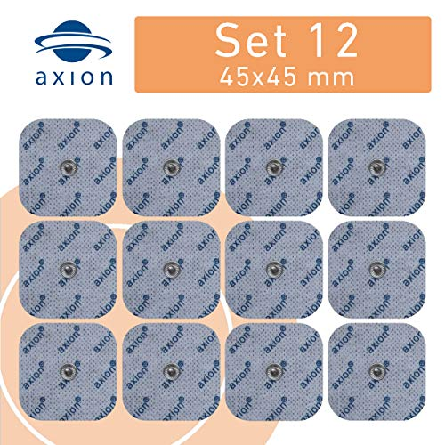 12 Elektroden Pads 45x45mm für Sanitas oder Beurer TENS EMS Geräte.