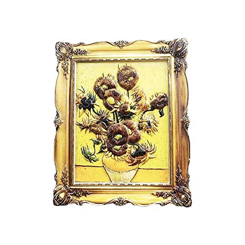 Amsterdam Holland 3D Van Gogh - Imán para nevera con girasol, regalo de recuerdo, hecho a mano para decoración del hogar y la cocina, colección de imanes de girasol