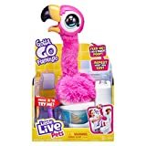 Little Live Pets Gotta Go Flamingo | Interactive Plush Toy That Eats, Sings, Wiggles, Poops and Talks (Batteries Included) | Reusable Food. Ages 4+, Multicolor