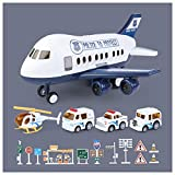Transport Airplane Car Toy Set, Cargo Airplane Car Play Set, Regalo Ideal para Niños Mayores De 3 Años,D