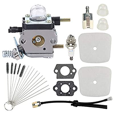 Highmoor C1U-K54A C1U-K82 Carburetor + Air Filter Repower Kit for 2-Cycle Mantis 7222 7222E 7222M 7225 7230 7234 7240 7920 7924 Tiller/Cultivator TC-210 HC-1500 SV-5C/2 Engine