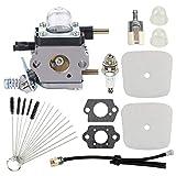 Highmoor C1U-K54A C1U-K82 Carburetor + Air Filter Repower Kit for 2-Cycle Mantis 7222 7222E 7222M 7225 7230 7234 7240 7920 7924 Tiller/Cultivator TC-210 HC-1500 SV-5C/2 Engine