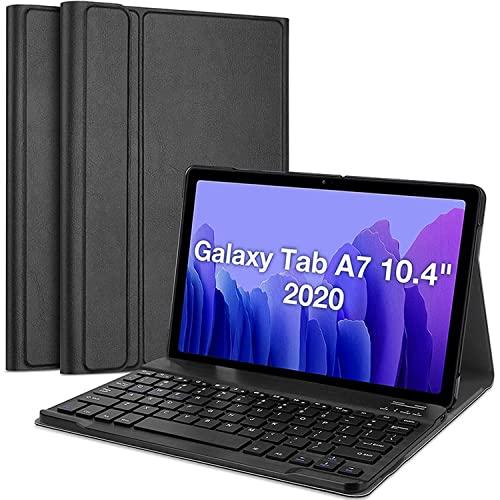 LGQ Funda Galaxy Tab A7 con Teclado - Teclado Desmontable inalámbrico(Spdelo 2020 10,4 Pulgadas (SM-T500 / T505 / T507) activación/suspensión automática,Negro