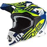 O'NEAL | Casco Motocross | MX | Calotta in ABS, Standard di sicurezza ECE 22.05, Prese d'aria per una ventilazione ottimali | Casco 2SRS Spyde 2.0 | Adulto | Blu Bianco Giallo | Taglia S