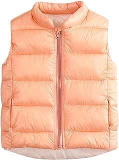 KONFA Fashion Waistcoat Jacket Winter Warm Clothes for 3-8T Little Kids Baby Girls Boys Zipper Outerwear Down Coat