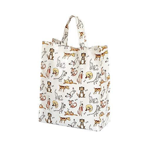 Borsa Shopper Bag, Borsa per le Spese Riutilizzabile 40cm x 32cm x13 cm con Disegno Divertenti di Cani, idee Regalo Donna e per gli Amanti dei Cane