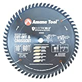 Amana Tool - 610600C Electro-BLU Carbide Tipped Cut-Off & Crosscut 10' Dia x 60T ATB