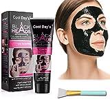 TDYJWELL Black Mask, Blackhead Remover Mask, Charcoal Peel Off Mask, Charcoal Mask, Charcoal Face Mask for All Skin Types with Brush - 60 Gram Pack