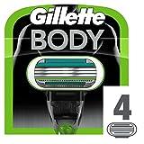 Gillette Body Ricarica di Lame per Rasoio da Uomo, 4 Pezzi...