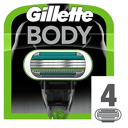 Gillette Body Recharge de lames de rasoir pour homme 4 pezzi