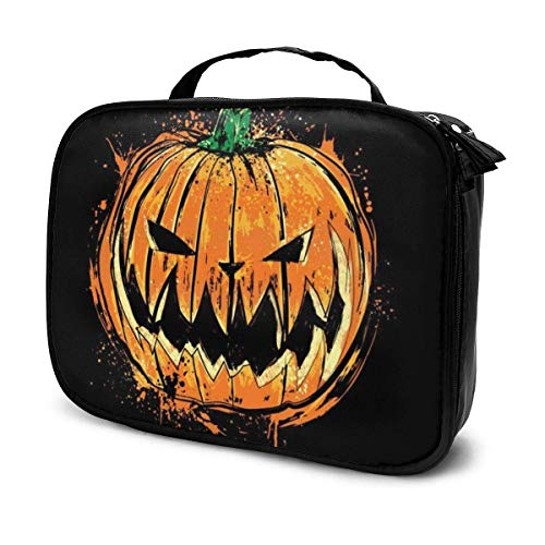 Trousse de Maquillage Pochette cosmétique Citrouille King Halloween Kit de Voyage pour Sac Multifonctionnel