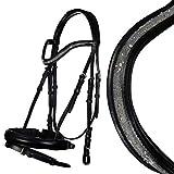 HKM Bella 9100 4057052255786 - Briglia da Equitazione, Colore Nero