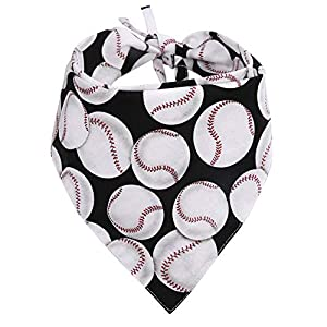 KZHAREEN Dog Bandana Reversible Triangle Bibs Scarf Accessories Baseball for Dogs Cats Pets Animals