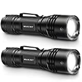 GearLight Tac LED Tactical Flashlight [2 Pack] - Single Mode, High Lumen, Zoomable, Water Resistant, Flash Light - Camping Accessories,...