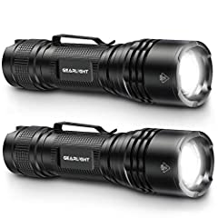 POWERFUL COMPACT FLASHLIGHT - The TAC upgraded LED casts a wide beam that effortlessly illuminates a whole room or backyard, yet remains small enough for every day carry (EDC). Conveniently powered for hours with 3 AAA batteries or a single 18650 rec...