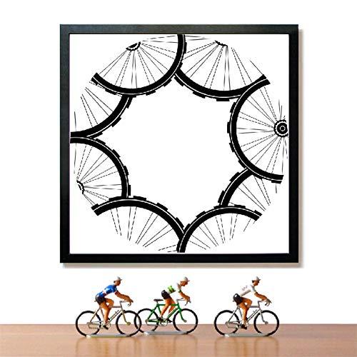 GUDOJK muurschilderij racefietsen patroon poster afdrukken mountainbike banden patroon kunst canvas schilderij schilderij schilderij modern huis muur art decoratie 40x60cm(16x24inch)