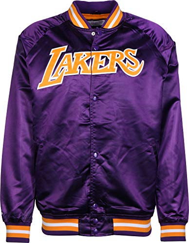 Mitchell & Ness Lightweight Satin Jacket Los Angeles Lakers Purple (XL, Violett)