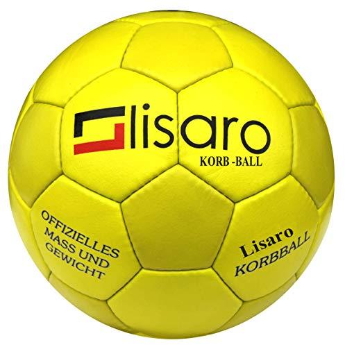 Lisaro Bad Company - Balón de baloncesto (piel sintética), color amarillo