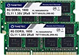 Timetec Hynix IC DDR3L 1600MHz PC3-12800 Unbuffered Non-ECC 1.35V CL11 2Rx8 Dual Rank 204 Pin SODIMM Laptop / Notizbuch Arbeitsspeicher Module Upgrade (16GB Kit (2x8GB))