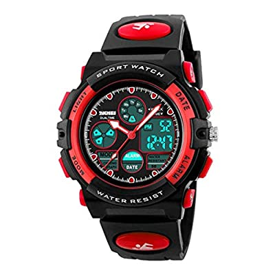 Touber Toys for 5-10 Year Old Boys Girls, LED 50M Waterproof Digital Sport Watches for Kids Birthday Presents Gifts for 5-12 Year Old Boy Toys Age 5-12