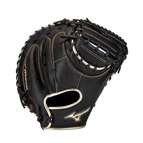 Mizuno GXC50PSE8 MVP Prime SE Baseball-Fanghandschuh, 86,4 cm, für Rechtshänder, Schwarz/goldfarben