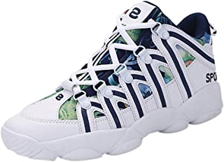 Kauneus Mens Womens Spliced Color Fashion Shoes Sneakers Unisex Chic Breathable Lightweight Sport Baseball Shoes
