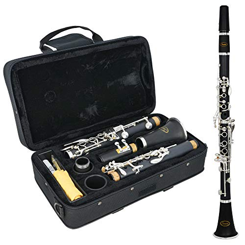 Sonata Student Bb Clarinet with Hard Case, Reed, Cleaning Cloth and Cork...