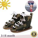 Zapatos de Bebe Niñas, Morbuy Primeros Pasos Verano Suave Zapato Estilo Romano Material de Algodón Sandalias Antideslizante Casual Zapatos de Regalo para Bebe (2 / 11cm / 3-6meses, Camuflaje verde)