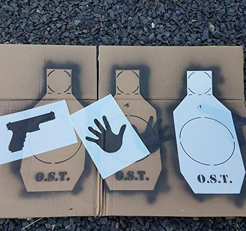 Operator Survival Tool Compact Reusable Silhouette Target Kit