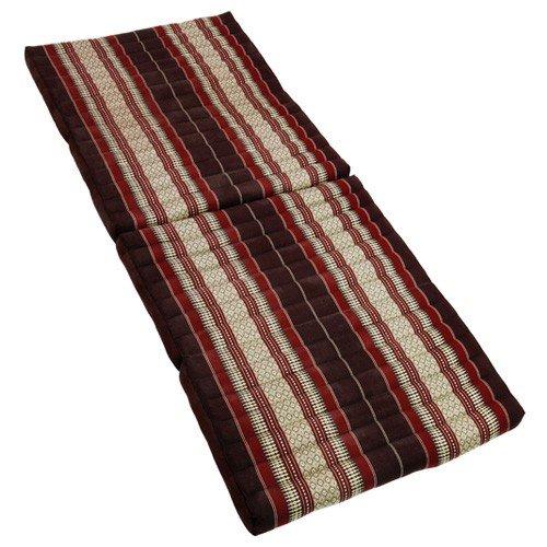 Kapok Thai - Colchón triangular para yoga y masaje (grande), color rojo y marrón
