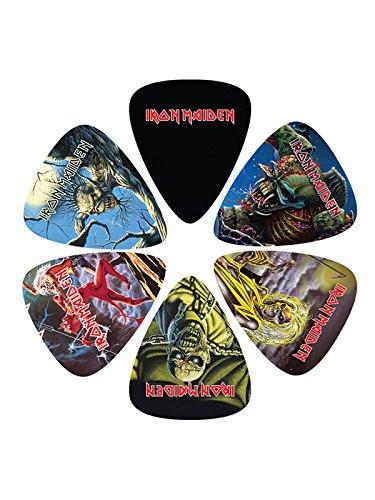 Perri's Leathers LP-IM1 - Juego de púas (grosor medio, 6 unidades), diseño de Iron Maiden