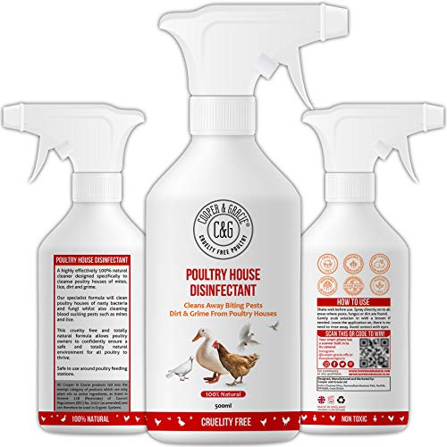 C&G Pets | Poultry House Disinfectant 500ML | Cleans Away Biting Pests &...