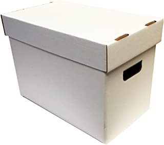 Bundle of 10 Magazine Cardboard Storage Boxes - WHITE without Graphics by Max Pro Collecting Supplies