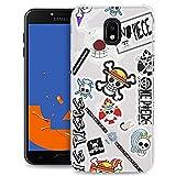 Coque Compatible en Silicone pour Samsung J4 Plus 2018 One Piece Stickers | TPU Antichocs