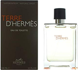 Hermes Terre D'Hermes Eau de Toilette Splash For Men, 3.3 Ounce