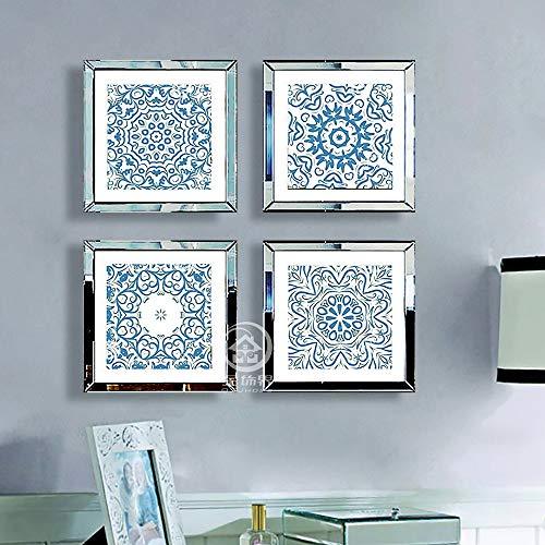 YAOHM Vierkante fotolijsten muur spiegelbeeld fotolijst multi fotolijsten moderne muur fotolijsten