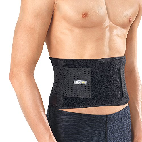 Bracoo Back Brace, Abdominal Support Belt for Sprains, Strains, Pain Relief & Posture Correction - Breathable & Ultra-Lightweight Stabilizers, Fulcrum (BS60), Large/X-Large