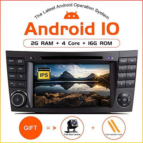 ZLTOOPAI Android 10.0 Radio para automóvil para Mercedes Benz E-Class W211 CLS W219 Estéreo para automóvil GPS de navegación para automóvil, Reproductor Multimedia con Pantalla táctil de 7 Pulgadas